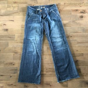 American Eagle low rise wide leg denim pants